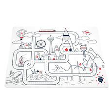 Achat Vaisselle & Couvert Set de Table à Colorier et ses 5 feutres - City Aventure