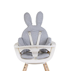 Achat Chaise haute Coussin de Chaise Rabbit Jersey - Gris