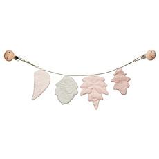 Achat Accessoires poussette Chaîne de Poussette Feuilles - Rose