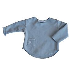 Achat Haut bébé Tee-Shirt Manches Longues Bleu - 6 Mois