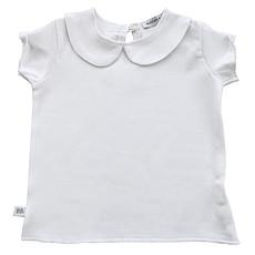 Achat Haut bébé Tee-Shirt Col Claudine Blanc - 6 Mois