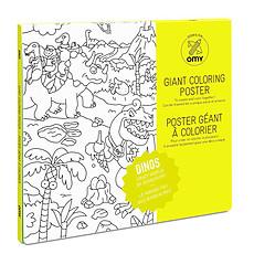 Achat Livre & Carte Poster à colorier - Dinos