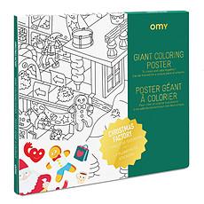 Achat Livre & Carte Poster à Colorier - L'atelier du Père Noël