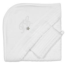 Achat Linge & Sortie de bain Cape de Bain et Gant Monogramme - Blanc
