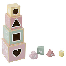 Achat Mes premiers jouets Boîte à Formes en Bois Aventure Rose