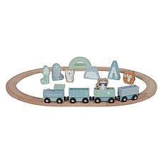 Achat Mes premiers jouets Circuit Train en Bois - Bleu