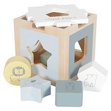 Achat Mes premiers jouets Boîte à Formes en Bois Zoo Bleu
