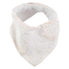 Achat Bavoir Bavoir Bandana Lucky - Gold Bubble & White