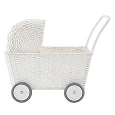 Achat Mes premiers jouets Landau Chariot Strolley en Rotin Blanc