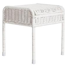 Achat Table & Chaise Bureau Coffre Enfant en Rotin - Blanc