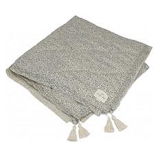 Achat Linge de lit Couverture en Coton Bio - Blue Blossom Mist