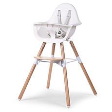 Achat Chaise haute Chaise Haute Evolu 2 Pieds Bois - Blanc