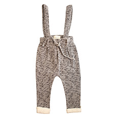 Achat Bas bébé Pantalon avec Bretelles Suwy Gris Chiné - 2/3 Ans