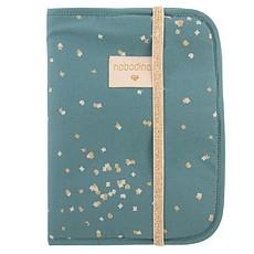 Achat Protège-carnet santé Protège Carnet de Santé Poema - Gold Confetti & Magic Green