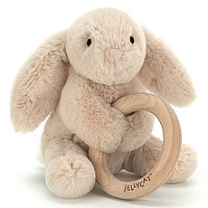 Achat Hochet Hochet Shooshu Bunny avec Anneau en Bois