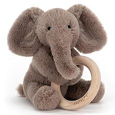 Achat Hochet Hochet Shooshu Elephant avec Anneau en Bois