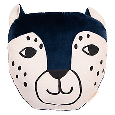 Achat Coussin Coussin Leopard - Night Blue