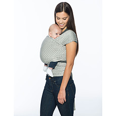 Achat Porte bébé Echarpe de Portage Aura - Gris / Pois