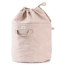 Achat Rangement jouet Sac à Jouets Bamboo - White Bubble & Misty Pink