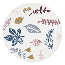 Achat Tapis Tapis Rond Pressed Leaves Rose - Ø 110 cm