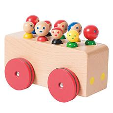 Achat Mes premiers jouets Bus en Bois avec Passagers - Dans la Ville