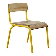 Achat Table & Chaise Chaise d'Écolier - Jaune