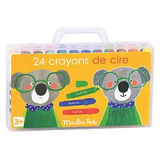 Achat Livre & Carte Boîte de 24 Crayons de Cire - Les Popipop