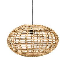 Achat Suspension  décorative Lampe en Rotin Pumpkin - Naturel
