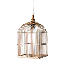 Achat Suspension  décorative Lampe Cage à Oiseau - Naturel