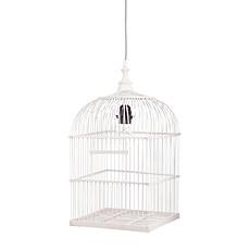 Achat Suspension  décorative Lampe Cage à Oiseau - Blanc