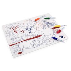 Achat Vaisselle & Couvert Set de Table à Colorier et ses 5 feutres - Savane