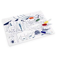 Achat Vaisselle & Couvert Set de Table à Colorier et ses 5 feutres - Boreal