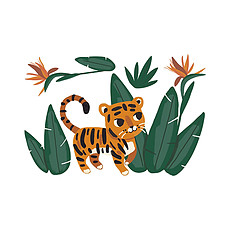 Achat Sticker Stickers Géant - Jungle et Tigre