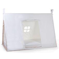 Achat Lit junior Toile Lit Bébé Tipi Blanc - 90 x 200 cm