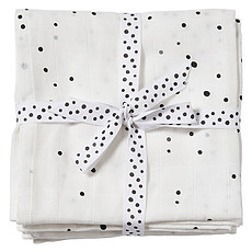 Achat Lange Lot de 2 Langes - Dreamy Dots Blanc