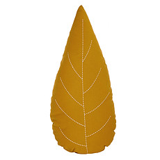 Achat Coussin Coussin Feuille - Ocre