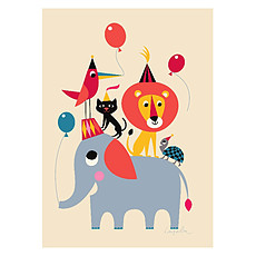 Achat Affiche & poster Affiche Animal Party par Ingela P. Arrhenius