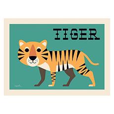Achat Affiche & poster Affiche Curious Tiger par Ingela P. Arrhenius