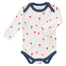 Achat Body & Pyjama Body Manches Longues Tulipes Rouges - 3/6 Mois