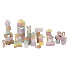 Achat Mes premiers jouets Blocs de Construction en Bois - Rose