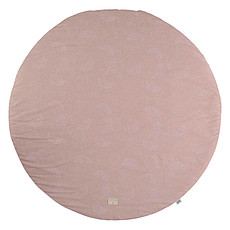 Achat Décoration Tapis Rond Full Moon White Bubble & Misty Pink - Ø 105 cm