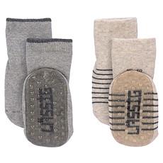 Achat Accessoires bébé Lot de 2 Chaussettes Antidérapantes - Gris