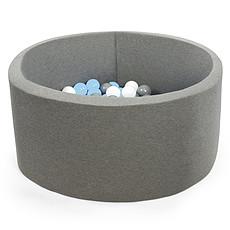 Achat Mes premiers jouets Piscine à Balles Ronde Grise 90 x 40 cm + 200 Balles