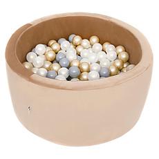 Achat Mes premiers jouets Piscine à Balles Ronde Velvet Beige 90 x 40 cm + 200 Balles