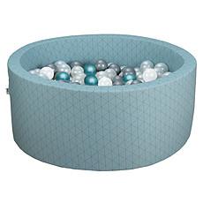 Achat Mes premiers jouets Piscine à Balles Ronde Graphic Chic & Vert de Gris 90 x 40 cm + 200 Balles