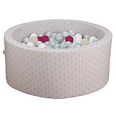 Achat Mes premiers jouets Piscine à Balles Ronde Graphic Chic & Rose 90 x 40 cm + 200 Balles