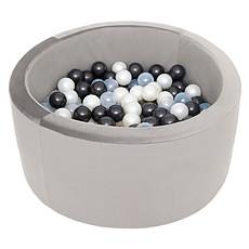 Achat Mes premiers jouets Piscine à Balles Ronde Velvet Grey 90 x 40 cm + 200 Balles