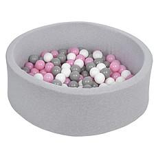 Achat Mes premiers jouets Piscine à Balles Ronde Grise 115 x 50 cm + 600 Balles