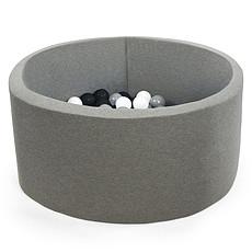 Achat Mes premiers jouets Piscine à Balles Ronde Grise 100 x 40 cm + 400 Balles