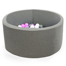 Achat Mes premiers jouets Piscine à Balles Grise 90 x 40 cm + 200 Balles